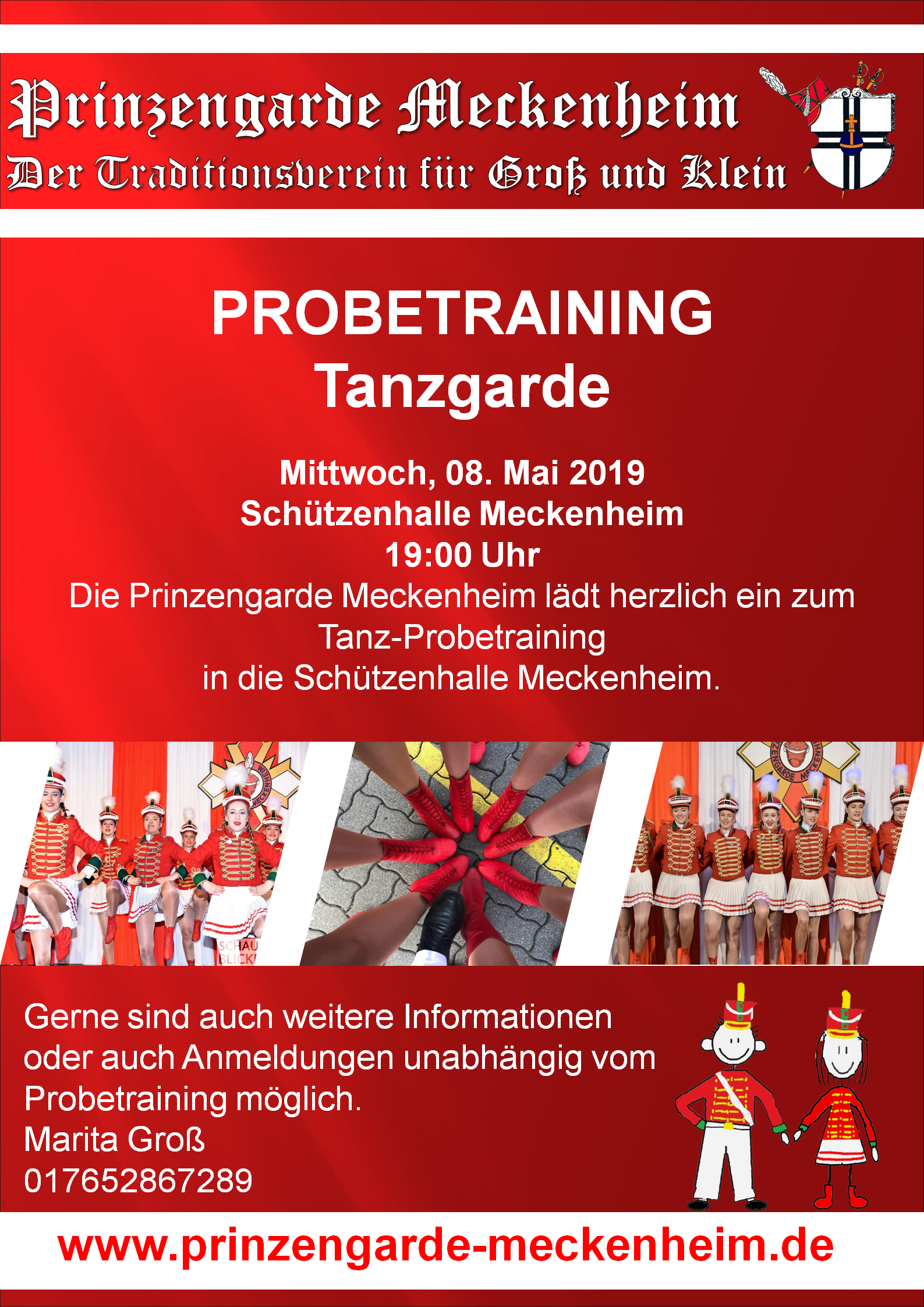 Probetraining Tanzgarde